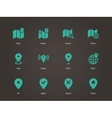 Map icons GPS and Navigation vector image