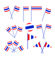 Set of Thai Flag on White Background vector image vector image