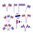 Set of Thai Flag on White Background vector image
