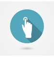 touch icon vector image