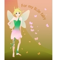 Little blond fairy vector image
