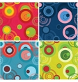 Dots and circles background set vector image