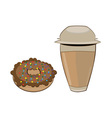 coffee cup donut vector image