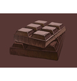 Piece of chocolate vector image vector image