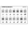 AC power plugs and sockets vector image