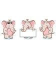 Brown Elephant Mascot pose vector image