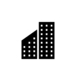 Building Icon Flat vector image