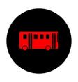 Bus simple icon vector image