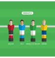 football players group E vector image