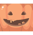 halloween of close up decorative orange face vector image