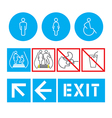 silhouette man and women public places access vector image