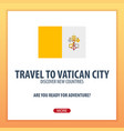 travel to vatican city discover and explore new vector image