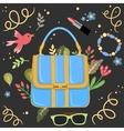 Woman handbag background vector image