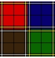 set of plaid fabric patterns vector image vector image