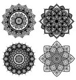 mandala set indian antistress medallion abstract vector image