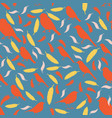 seamless pattern with birds and feathers vector image