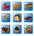 cakes icons vector image vector image