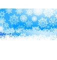 Winter with many falling snowflakes EPS 8 vector image