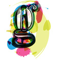 Artistic Font - Letter g vector image