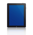 touchscreen tablet vector image vector image