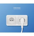 Power socket with cable plugged vector image