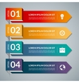 Infographic template with 4 steps parts options vector image vector image