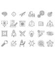black engineering icons set vector image