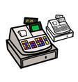 Cash Register vector image