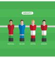 football players group F vector image