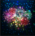 happy new year with firework vector image