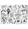 Jazz Musicians doodles vector image