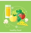 Organic health food vector image