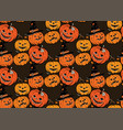 seamless pattern with halloween pumpkins vector image