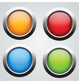 set of 4 glass buttons vector image
