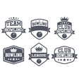 Set of Vintage Bowling Club Badge and Label vector image