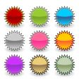 starburst tags vector image