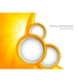 Background with orange circles vector image vector image