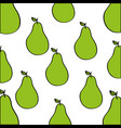 pears pattern fresh fruit drawing icon vector image