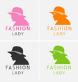 hat beauty girl logo vector image