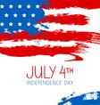 American flag splash background vector image