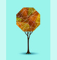 abstract fall tree geometric design vector image