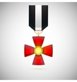 Red Cross of a military medal vector image