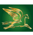 antique flying horse Pegasus vector image