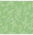 green seamless leaves vector image vector image