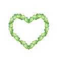 Fresh Green Leaves in Beautiful Heart Shape vector image