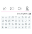 Contact us and Communication icons vector image