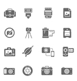 Icon set - camera and accessory vector image vector image