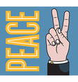 Peace or Victory hand vector image