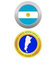 button as a symbol ARGENTINA vector image