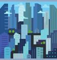city quarter future building skyscraper vector image